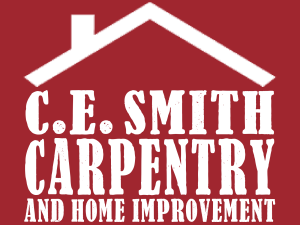 CE Carpentry Logo (Red)
